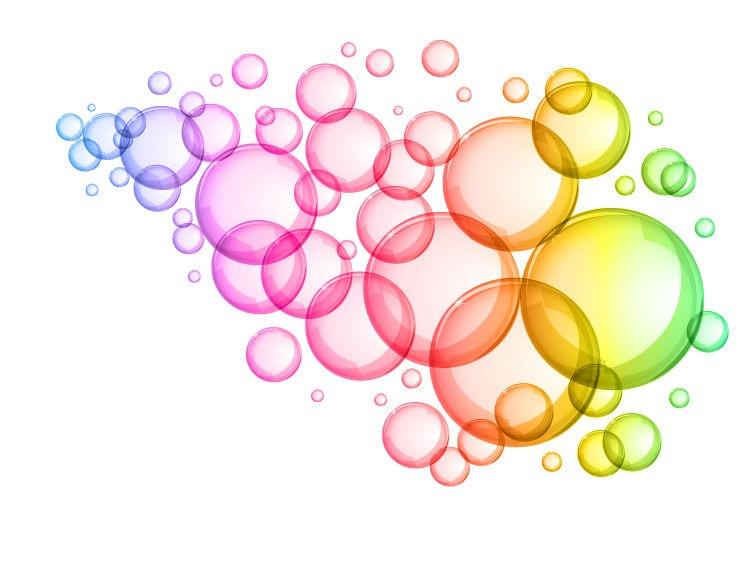 Colorful bubbles . Bubble clipart water bubble