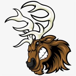 Deer fighting baseball free. Elk clipart angry