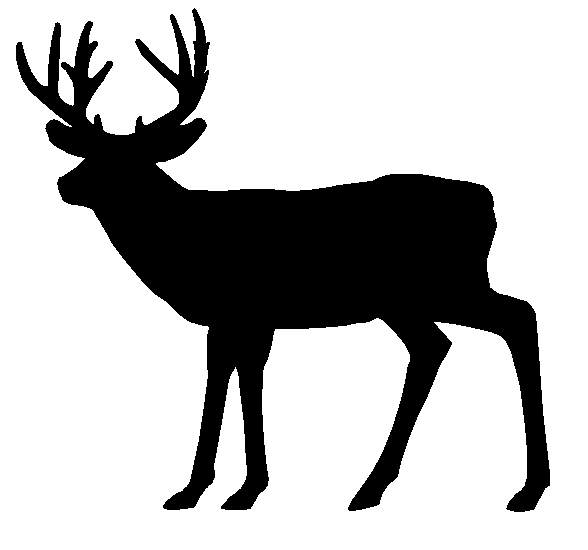 Deer clipart silhouette. Head black and white