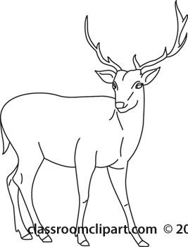 Buck clipart black and white. Deer danasrij top clipartix
