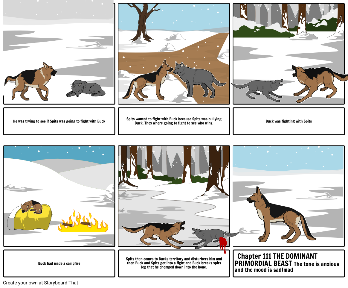 Buck clipart call the wild. Of project storyboard by