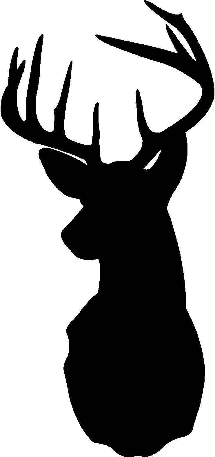 Buck clipart deer silhouette, Buck deer silhouette ...