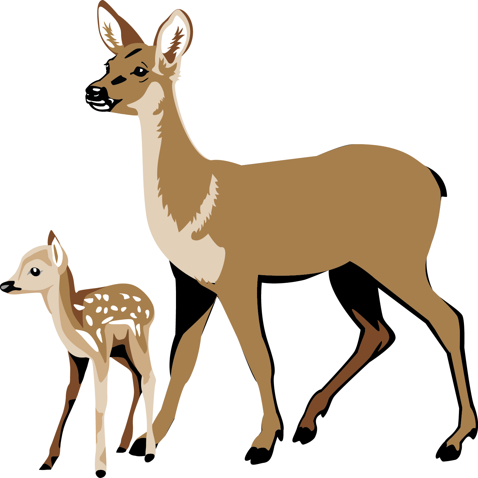 Deer clipart mother's day. Fawn pencil and in