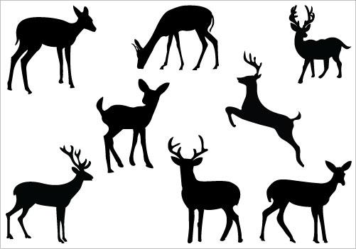 Hunting clipart sambar deer. Baby silhouette clip art