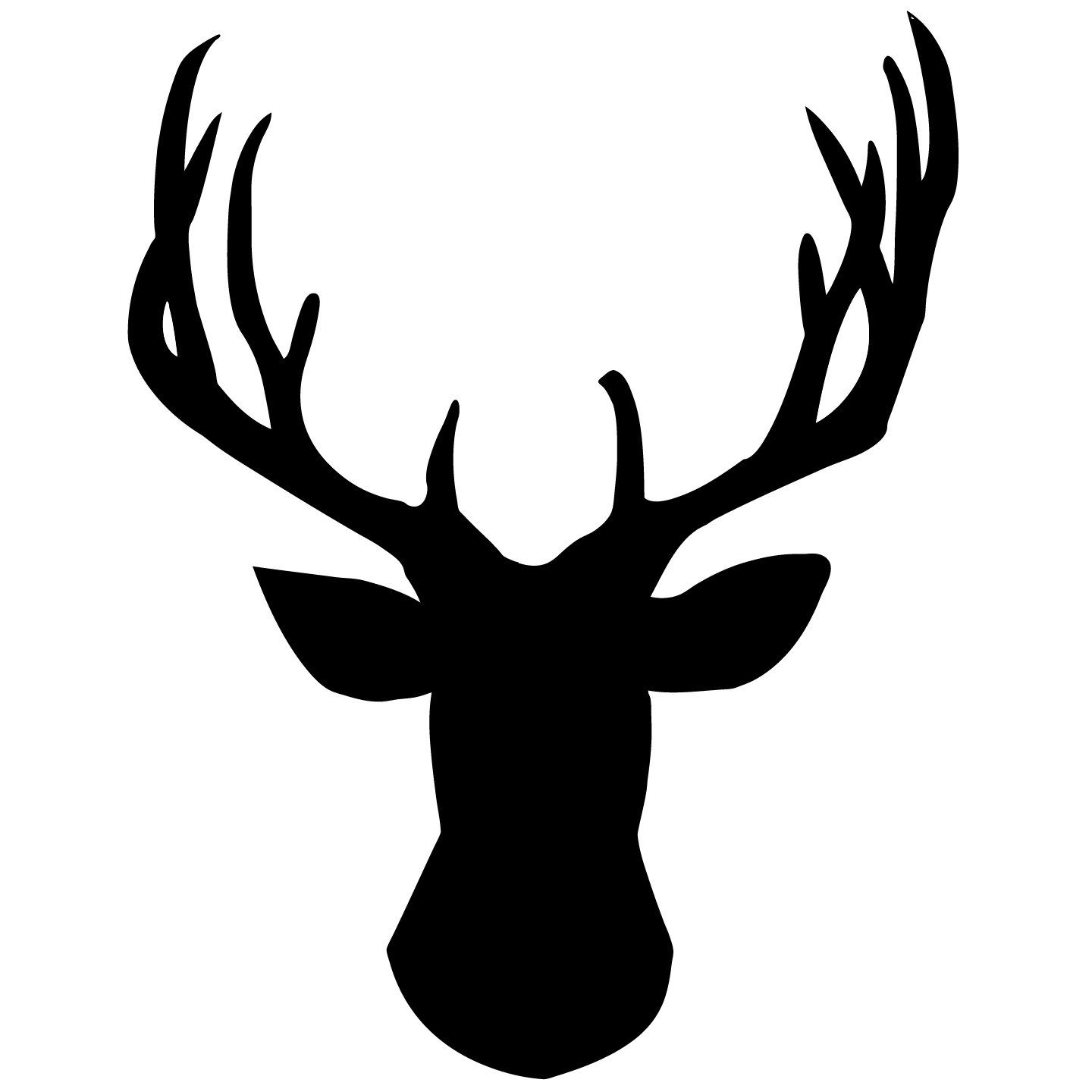 Hunting clipart stag head. Deer chalkboard wall decal