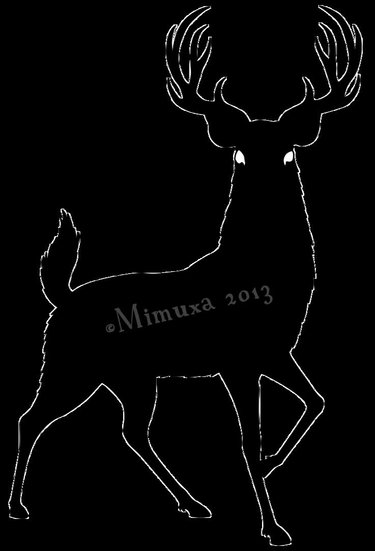 Deer clipart whitetail deer. Silhouette of at getdrawings