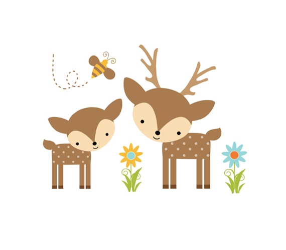 Woodland clipart buck. Baby deer cliparts collection