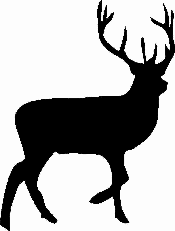 Silhouette of at getdrawings. Deer clipart