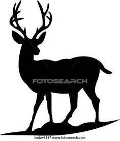 Buck clipart silhouette. Whitetail deer clip art
