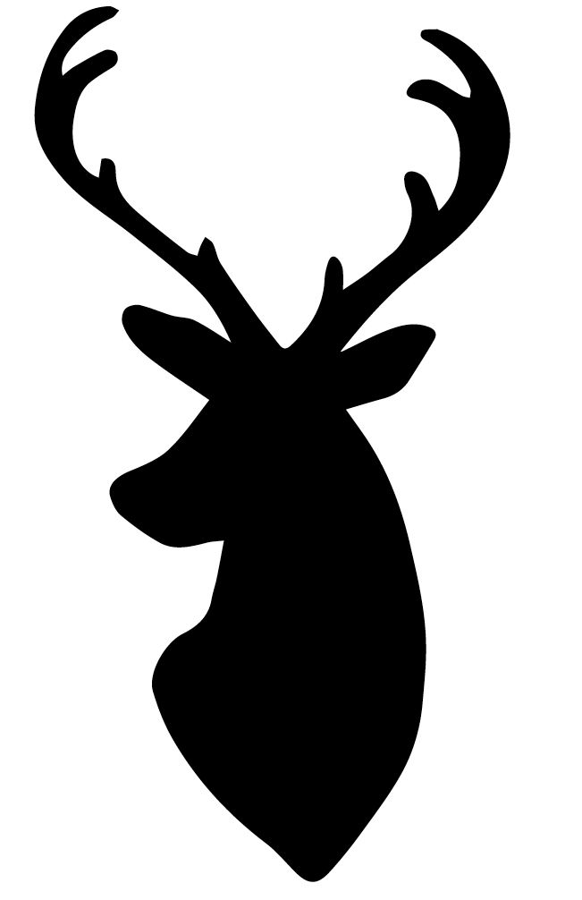 Whitetail deer silhouette clip. Antlers clipart gazelle