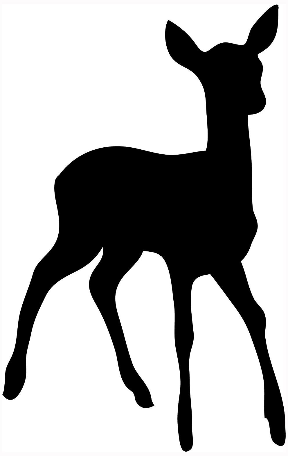 Deer clipart silhouette. Head template at getdrawings