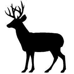 Deer clipart. Reindeer buck silhouette christmas