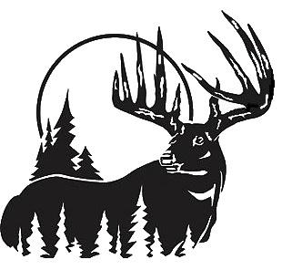 Reindeer Clip Art Transprent Png Free - Black And White Buck, Transparent  Png - vhv