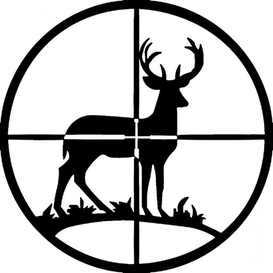 Free deer scene cliparts. Hunting clipart wild life