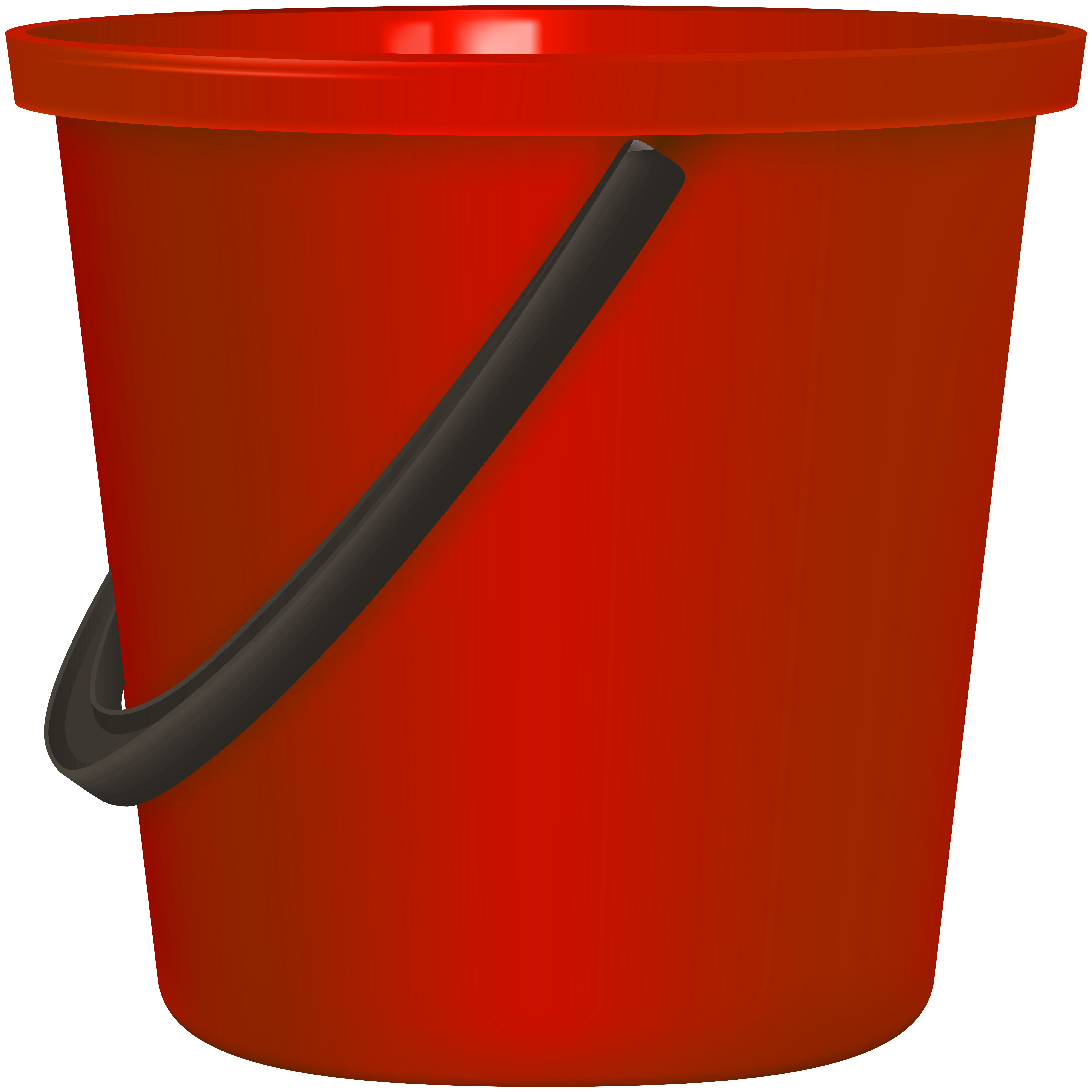 Bucket clipart. Red png clip art