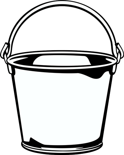 Clip art free download. Bucket clipart