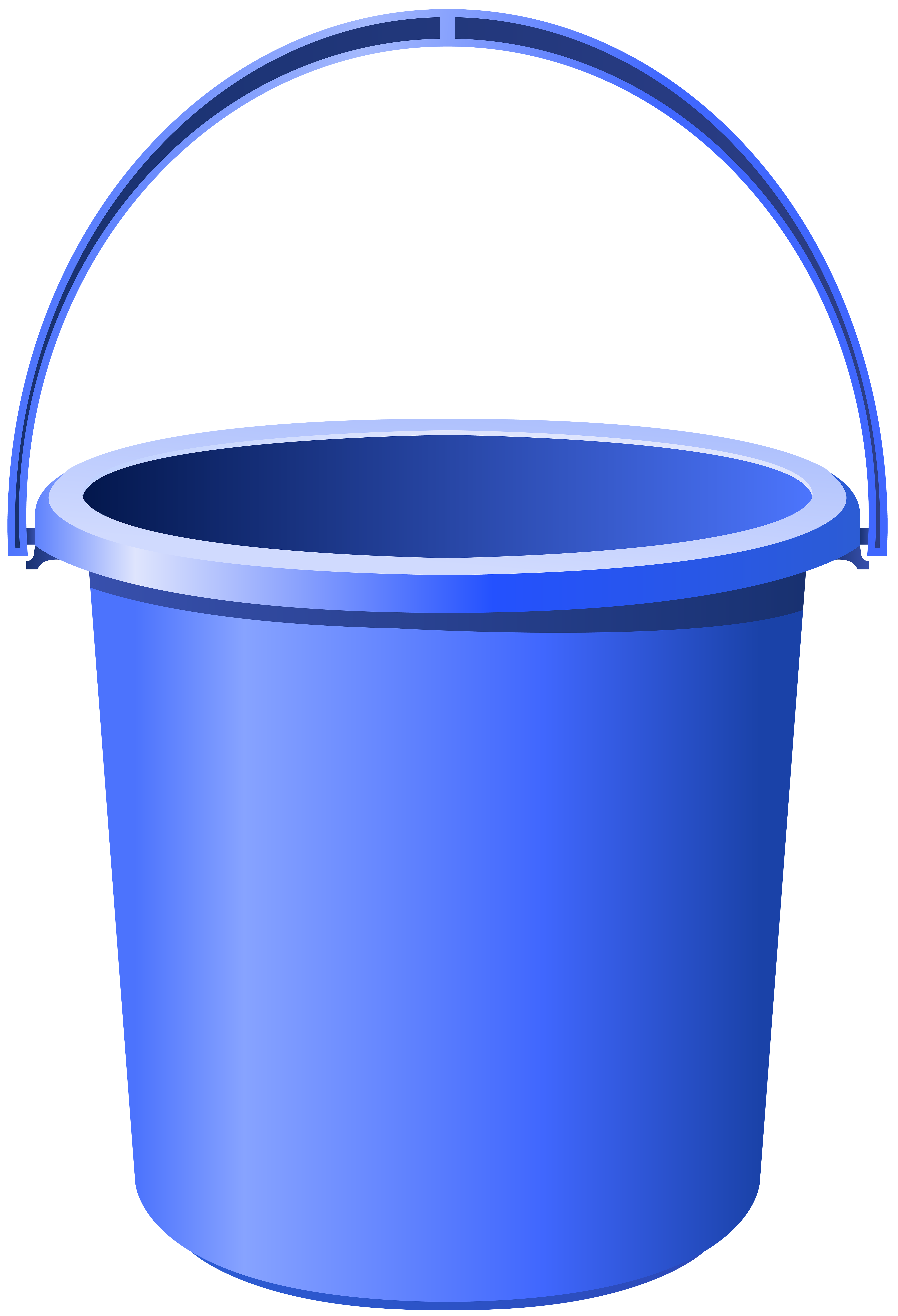 Blue png clip art. Bucket clipart