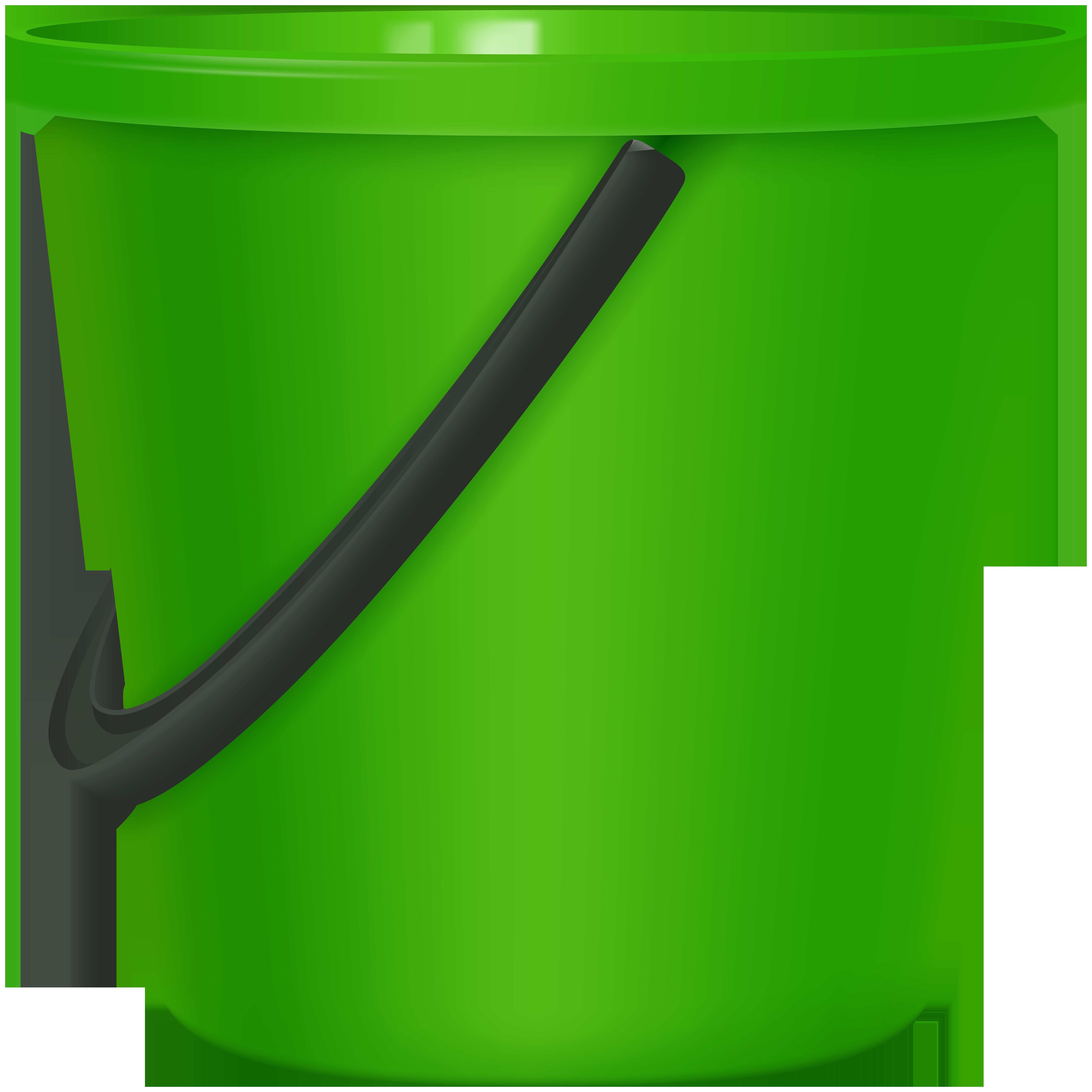 Bucket clipart. Green png clip art