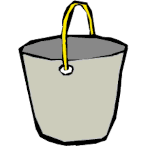 Cliparts of free download. Bucket clipart animated
