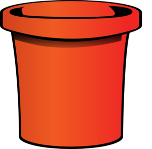 Bucket clipart animated. Red