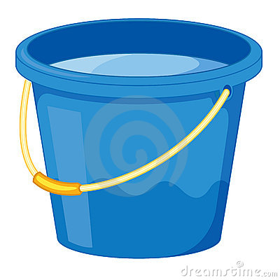 Water . Bucket clipart animated