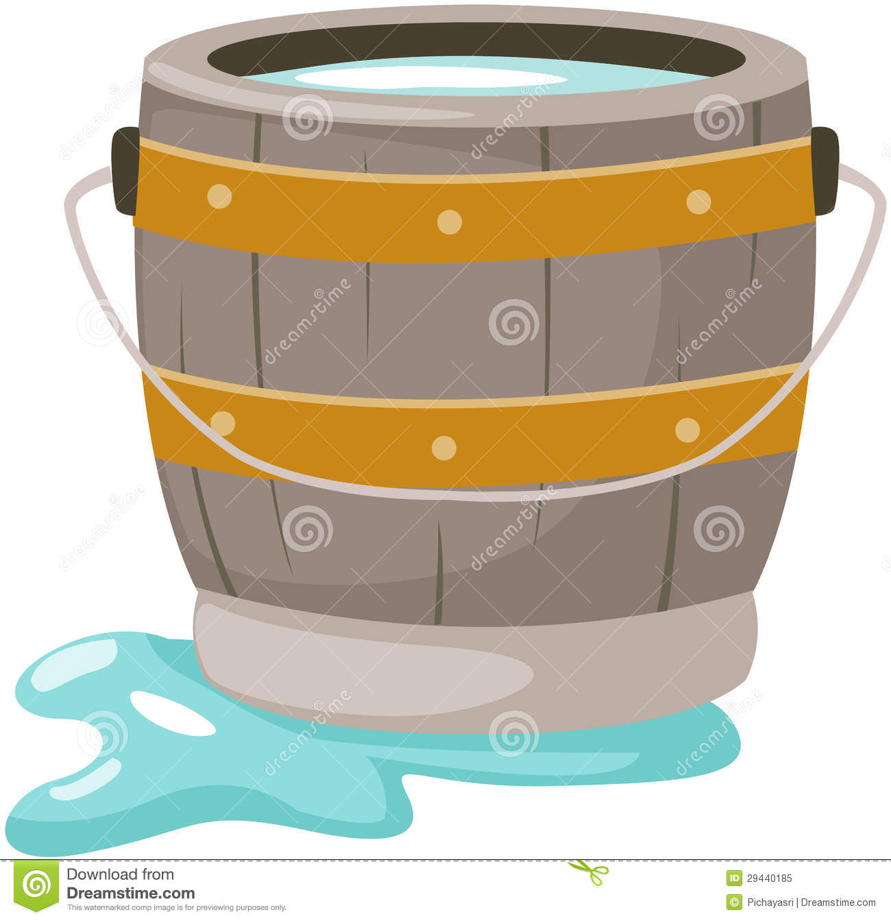 Bucket clipart animated. Tub of water