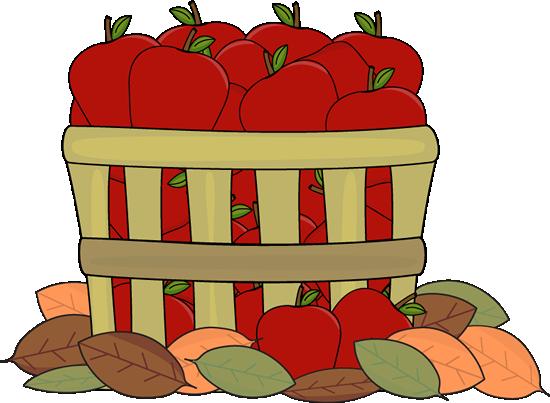 Fall clip art images. Bucket clipart apple