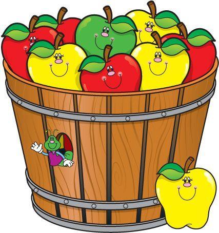 best apples teaching. Bucket clipart apple