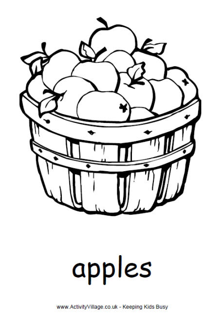 Bucket clipart apple. Drawing for kids at
