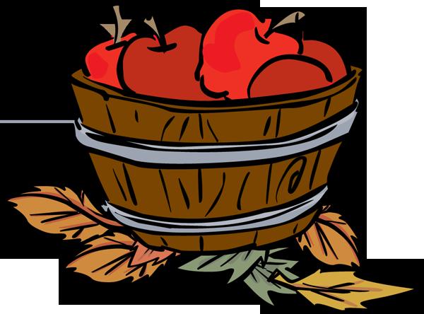 . Bucket clipart apple