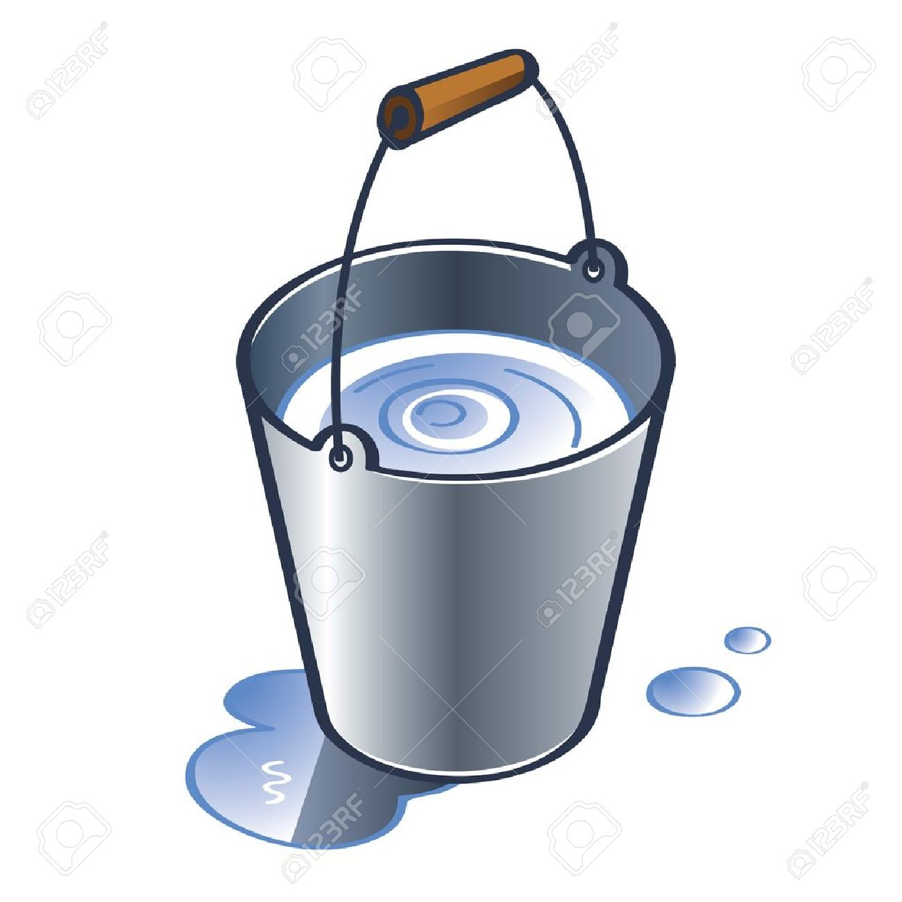 Bucket clipart balde. Water station