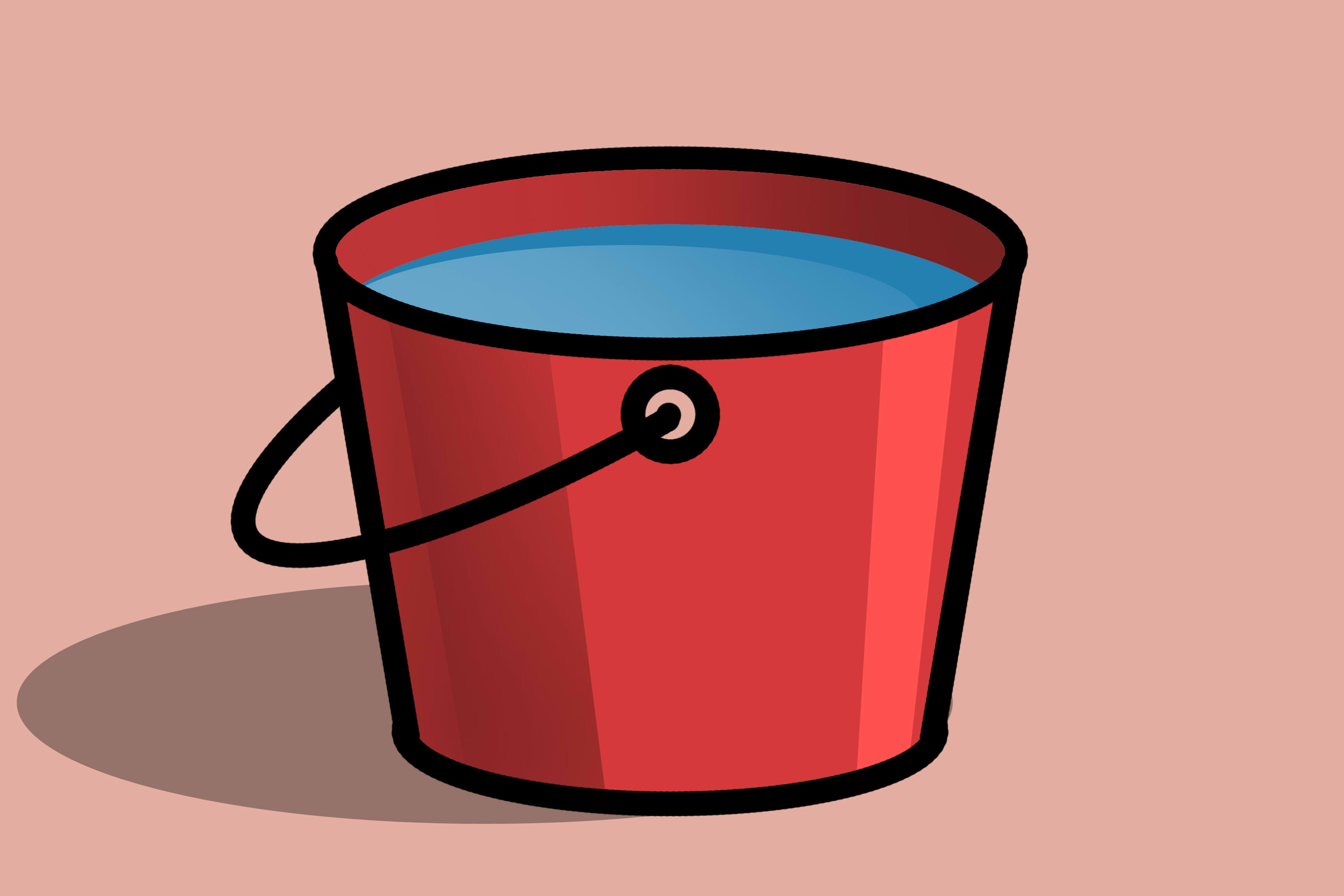How to draw a. Bucket clipart balde
