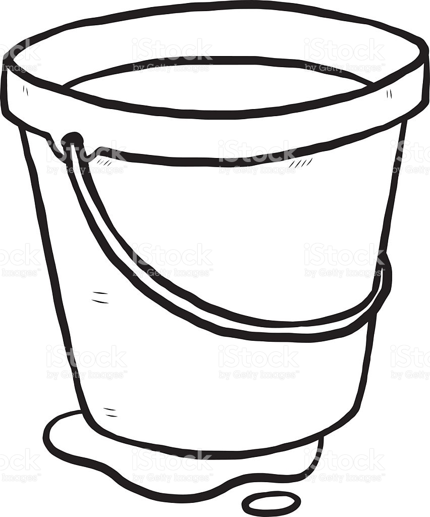 Fresh design digital collection. Bucket clipart black and white
