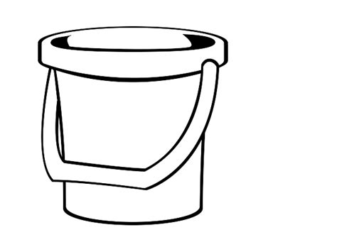 Bucket clipart black and white. Filling coloring pages costumepartyrun