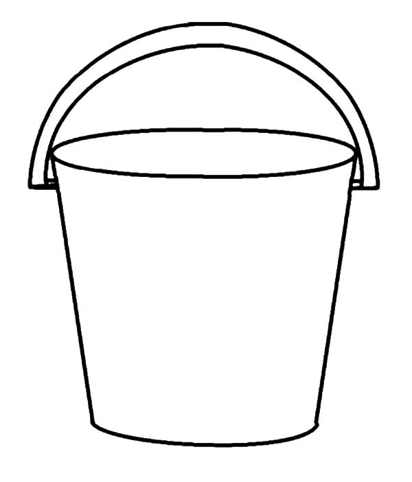 Bucket clipart black and white. Free download jpg clipartix