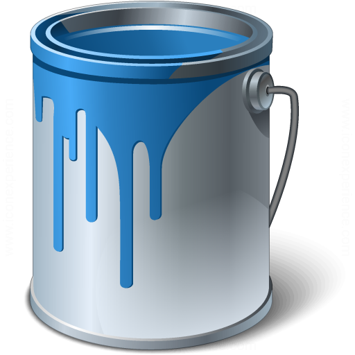 Bucket clipart blue bucket. Iconexperience v collection paint