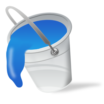Vista by iconshock color. Bucket clipart blue bucket