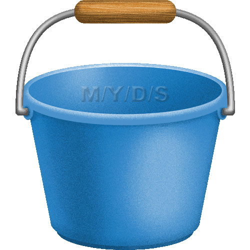 Bucket clipart blue bucket. Pail picture panda free