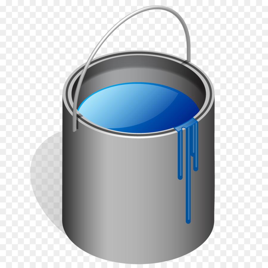 Bucket clipart blue bucket. Paint clip art can