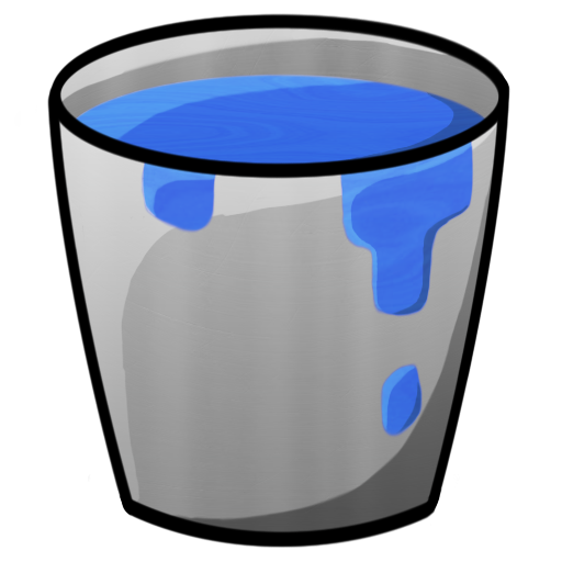 Picture of minecraft with. Bucket clipart blue bucket