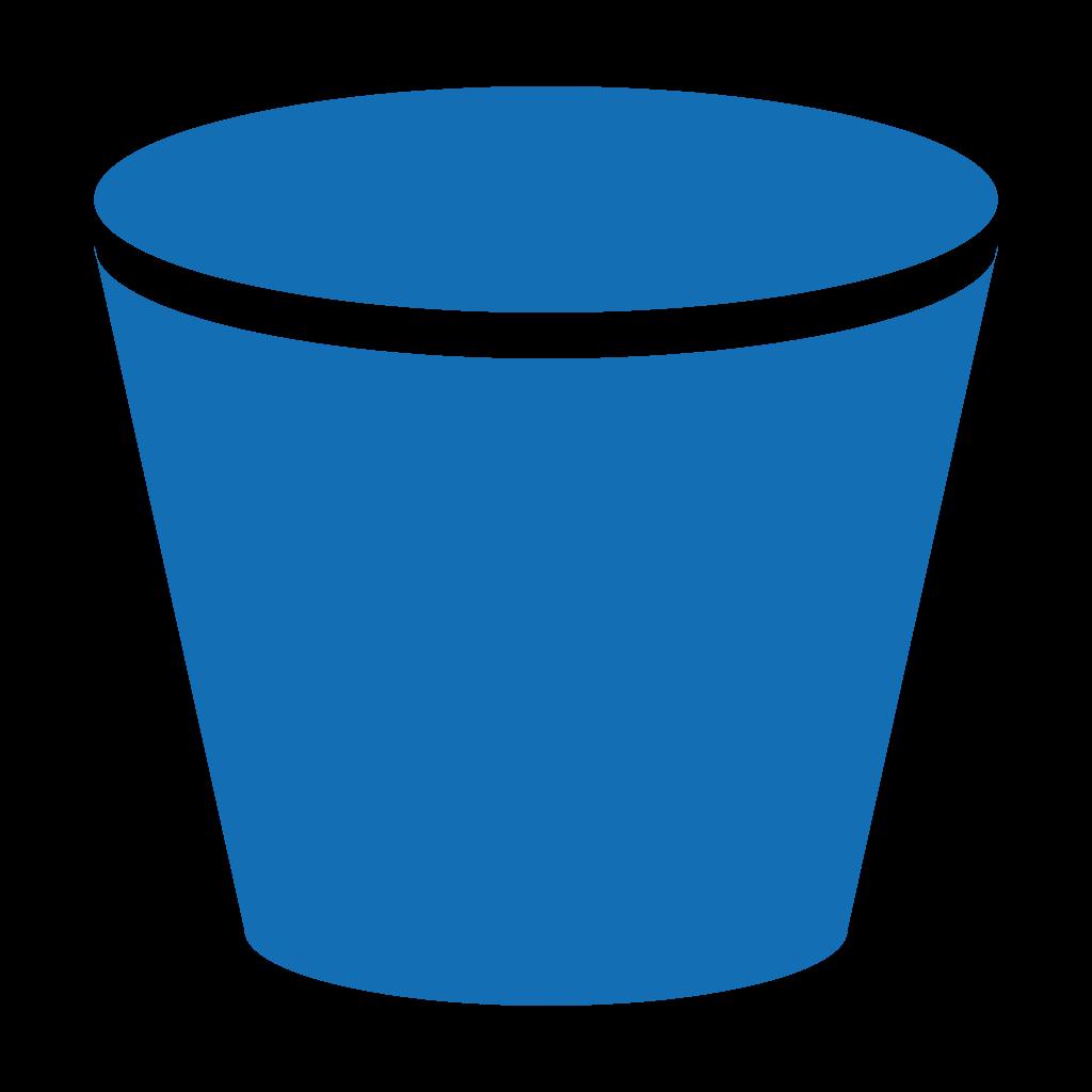 S support . Bucket clipart blue bucket