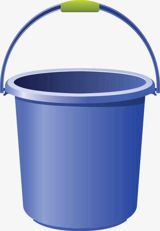 Bucket clipart blue bucket. Green cartoon png image