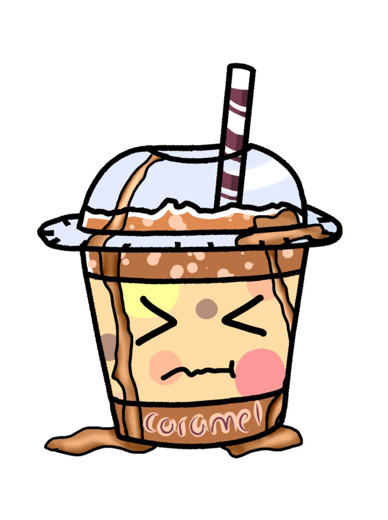 Caramel tea by peachcandi. Bucket clipart bubble