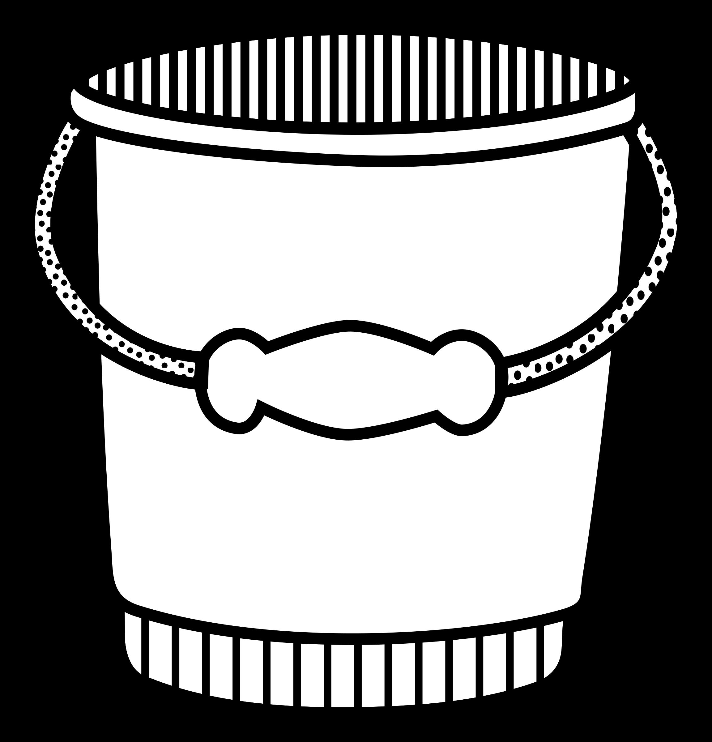 Bucket clipart bucket outline. Lineart big image png
