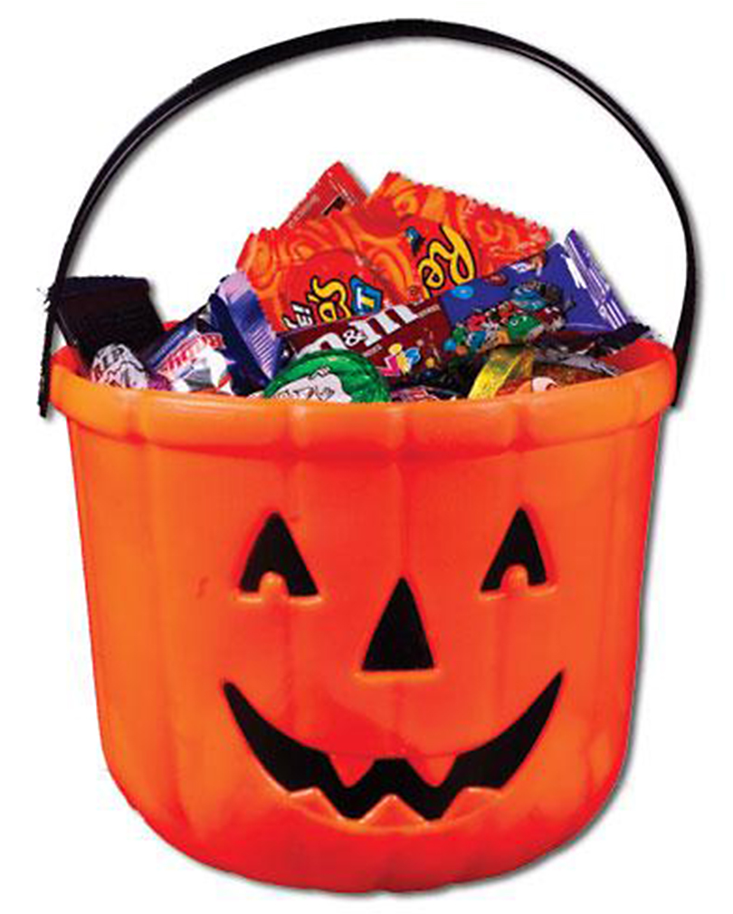 collection of halloween. Bucket clipart candy