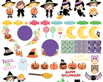 Bucket clipart candy. Etsy halloween kids clip