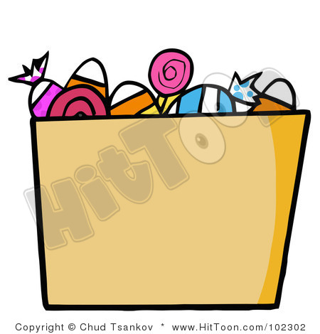 Trick or treat of. Bucket clipart candy