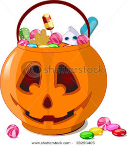 Bucket clipart candy. Picture a jack o
