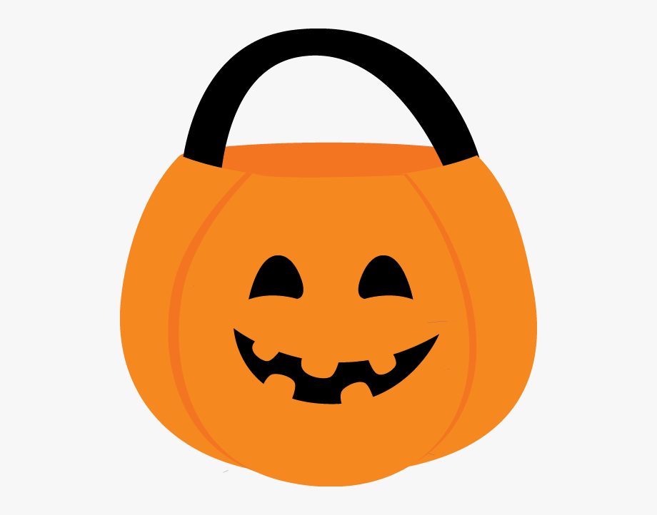 Halloween candy bucket . Pumpkin clipart basket