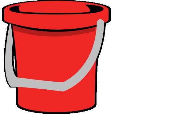 Red bucket clip art at vector clip art png
